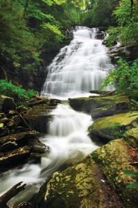 Water wonderland: Butcher Branch Falls is one of many waterfalls nestled in the New River Gorge.