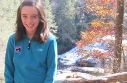 Emma Sidoli at Triple Falls