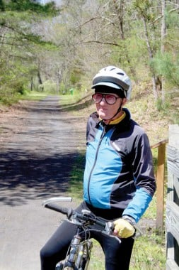 Lawrence Dye on the Virginia Creeper Trail