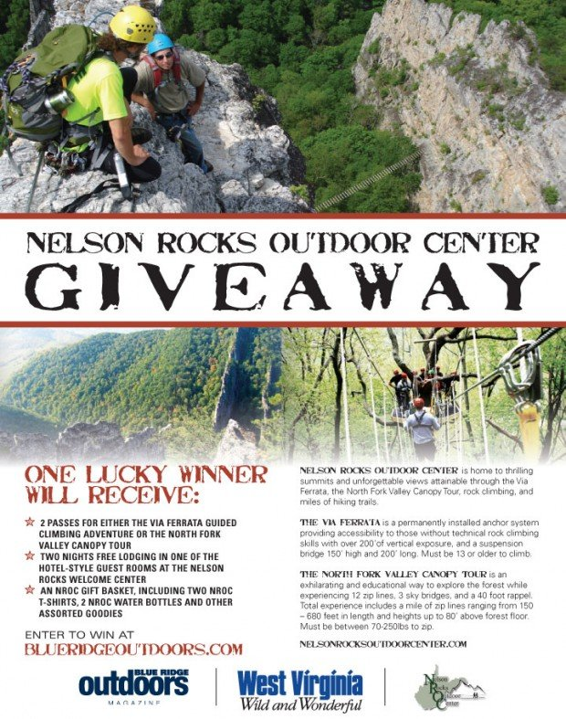 Nelson Rocks Outdoor Center Giveaway