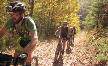 Riders on the Virginia Mountain Bike Trail