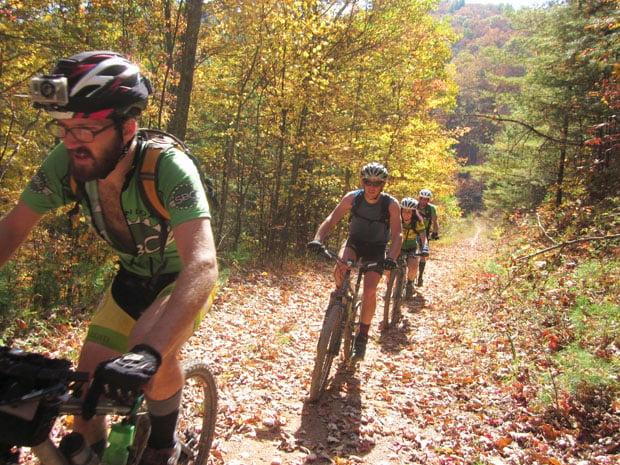 Riders on the Virginia Mountain Bike Trail