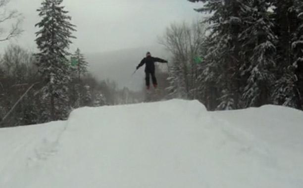 snowshoe jump