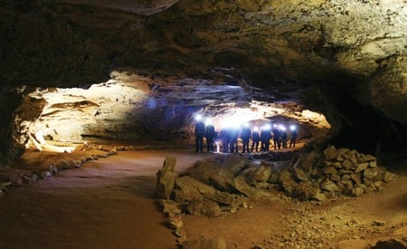 Visitors to Mammoth Cave explore a 400-mile network of tunnels and caverns.