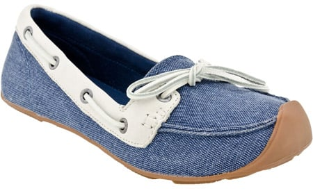 Keen Catalina Canvas Boat Shoe in ensign blue/whisper white.