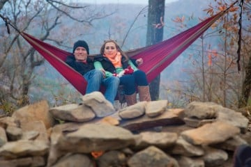 Paddler Chris Gragtmans and author Ashley Woodring. Photo: Stephen Brooks Photography