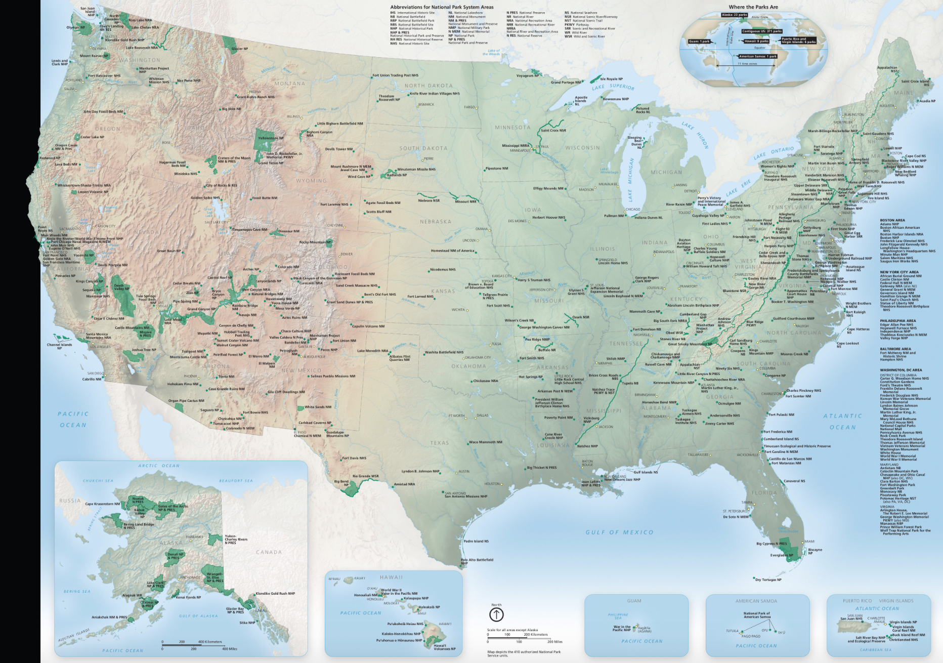 Every National Park Map Now Digitized for Your Convenience