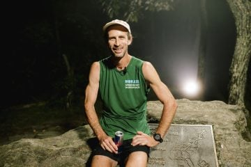 Karl Meltzer poses for a portrait after breaking the record for running the length of the Appalachian Trail on 18 September, 2016.